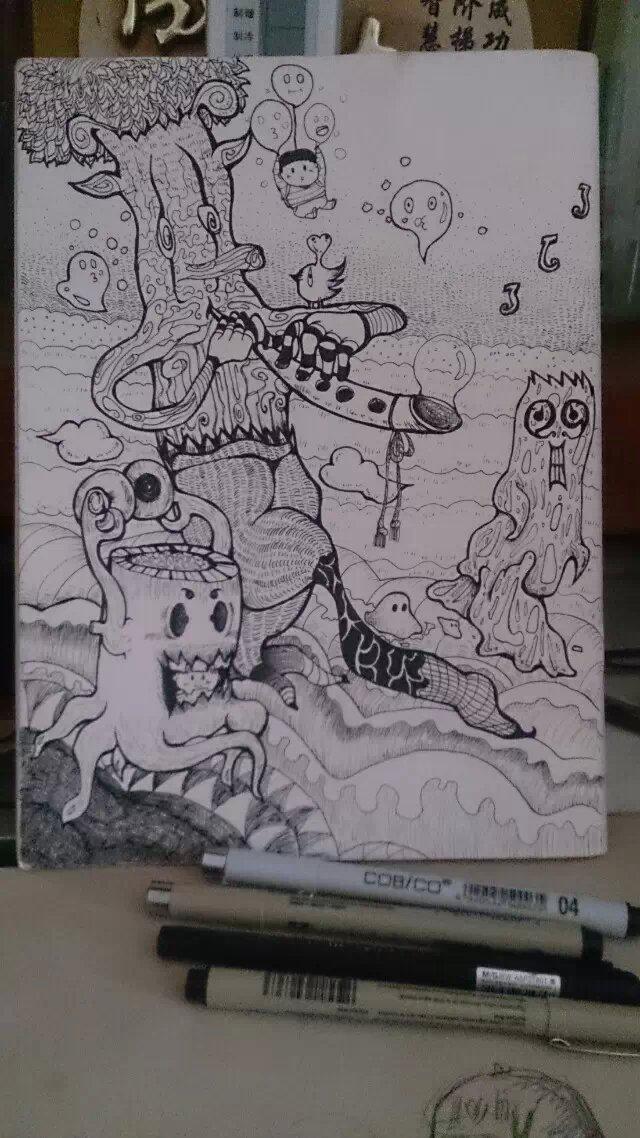 2015年的手绘绘|涂鸦/潮流|插画|无了了