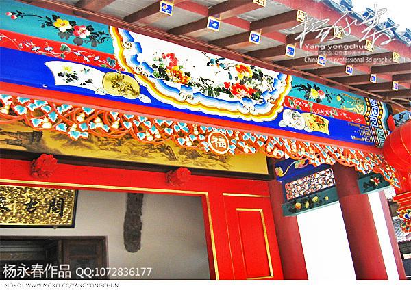 2010年8月南京夫子庙水街古建彩绘金箔画