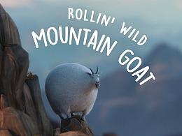 Mountain Goat —— what if animals were round?