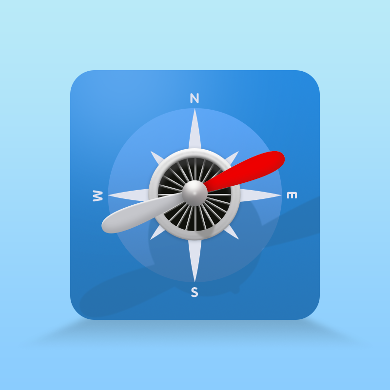 飞机指南针|图标|ui|mickie