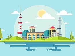 城市地标卡片