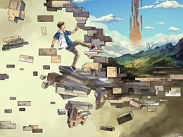为科幻小说《千形之塔》制作的插画。