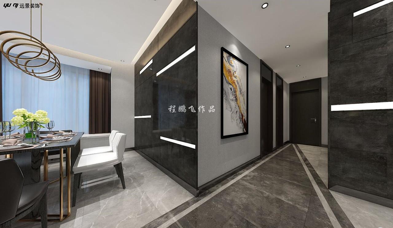 现代简约高级灰风格装修效果图 灰白色墙面地板砖搭配设计案例