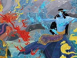 有声读物-中国神话故事宣传海报