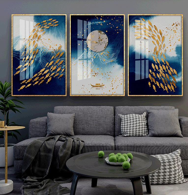 合肥晶瓷画,铝合金画框,铝合金海报框,鎏金装饰画图片