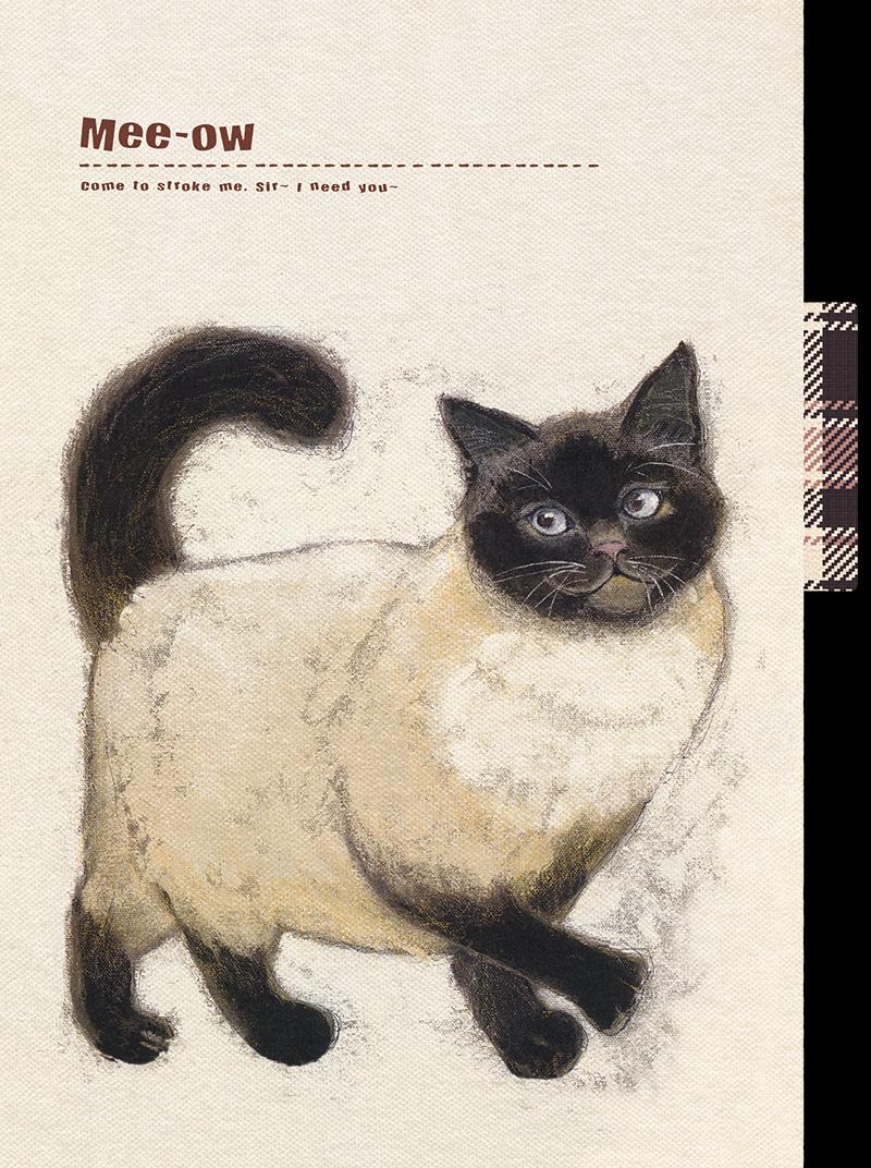 《喵星人》——复古手绘活页本
