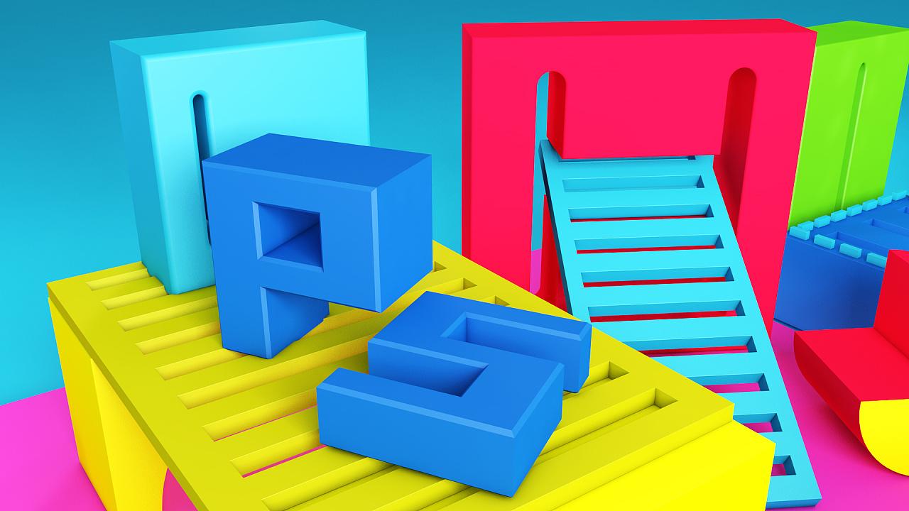 c4d制作案例《简单创意图形设计》|三维|场景|神木