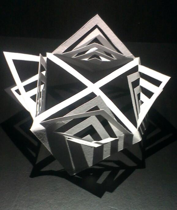 立体构成--剪纸|其他手工|手工艺|夕妧