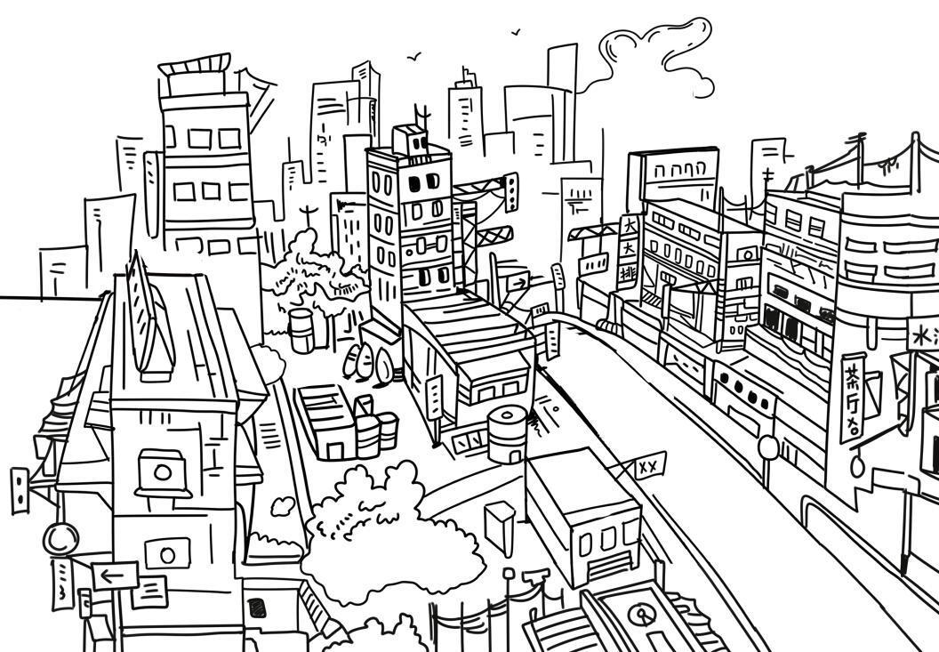 关于香港的手绘