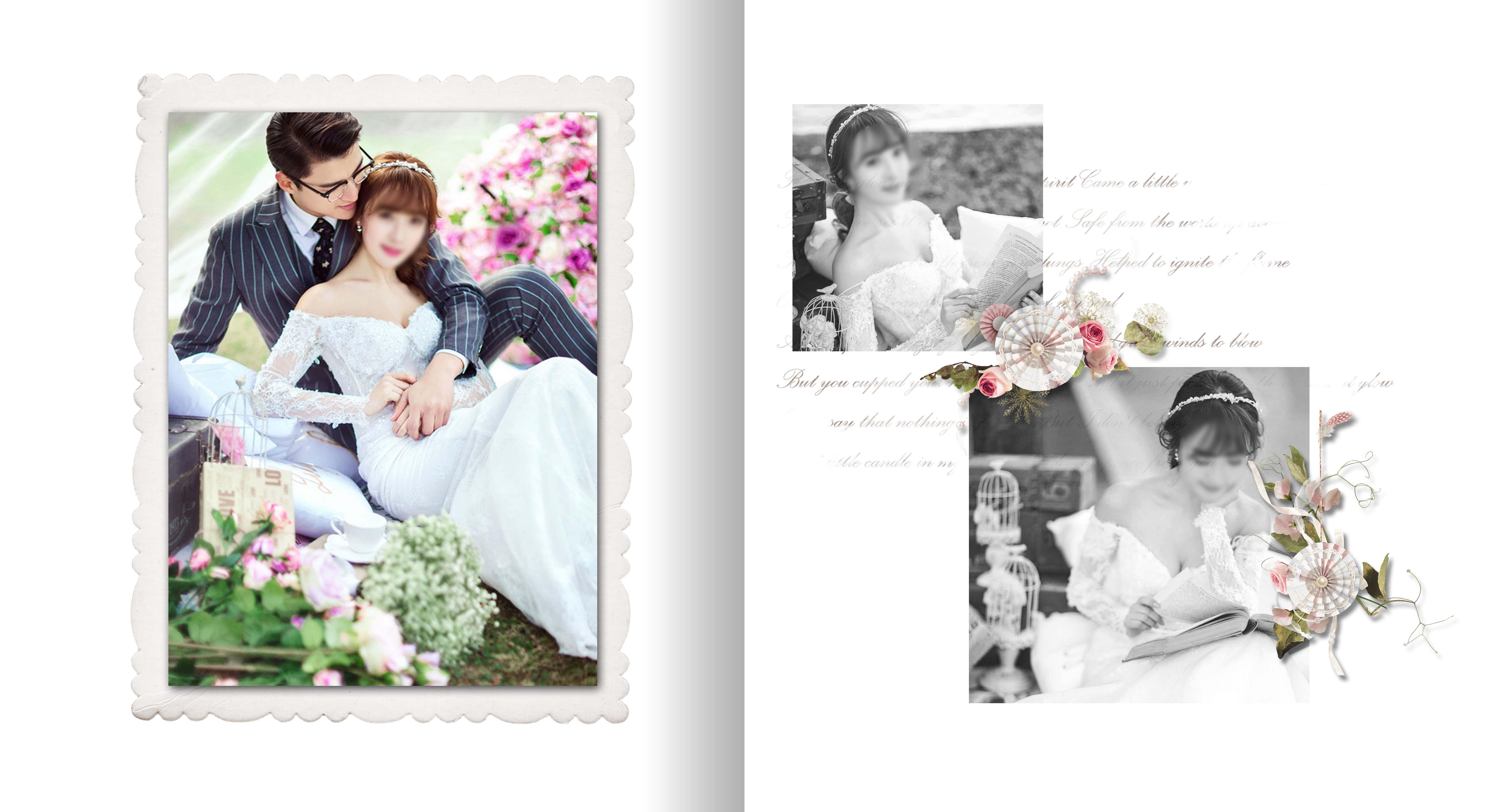 婚纱照 婚纱照模板 婚纱照素材 模板素材 板式设计 排版 韩版婚纱照图片