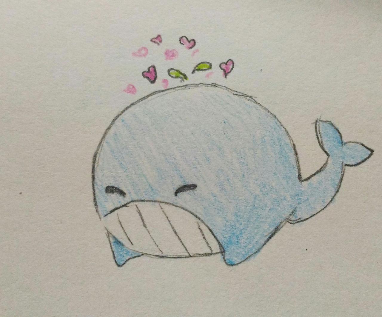 动物手绘练习 彩铅上色
