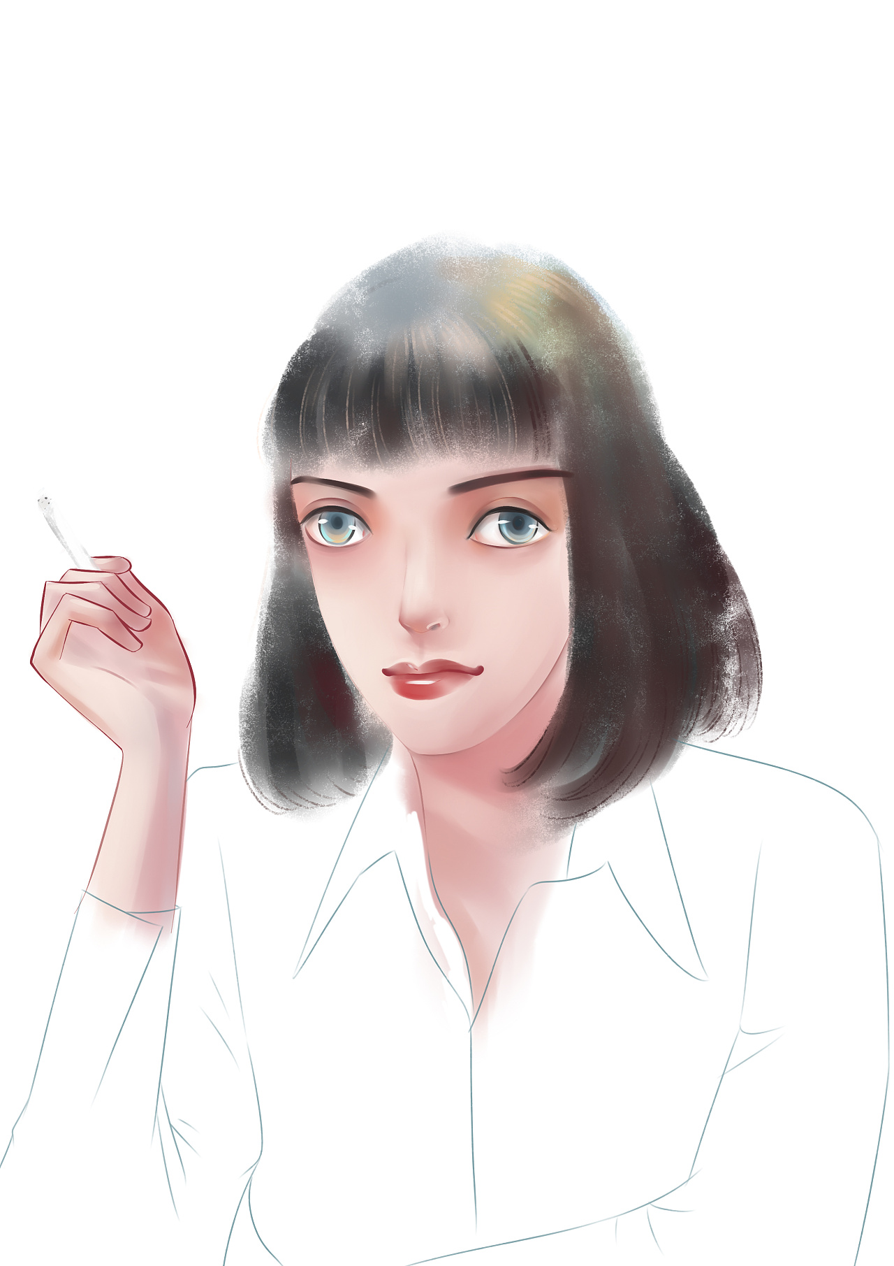 低俗小说. 蜜儿|插画|插画习作|Eileenliao - 原创