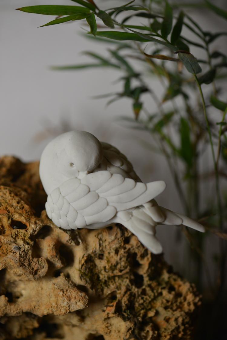 鹦鹉 纯手工陶瓷动物鸟雕塑原创设计工艺品 摆件