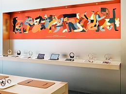 Cecile Gariepy为苹果Apple打造新年插画