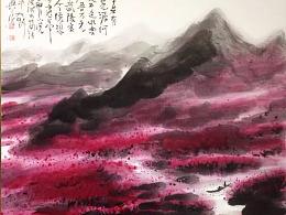 水墨桃花系列 幽蓝系列