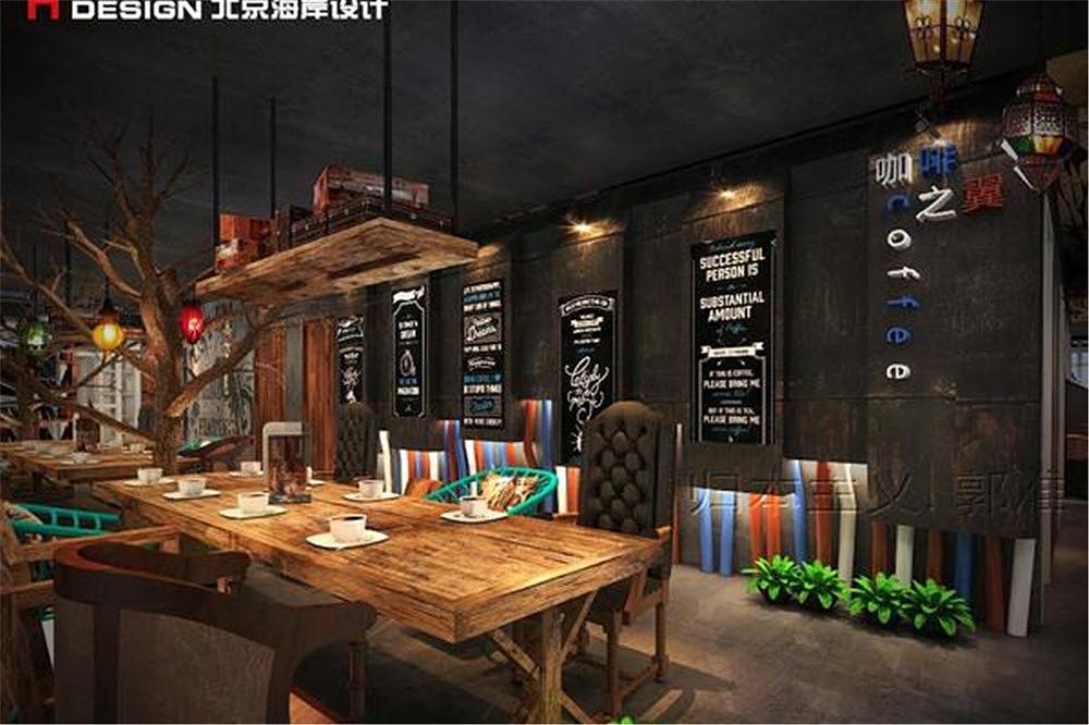 三亚北京中医之翼咖啡v中医餐饮海南海岸设计蒙氏案例设计图图片
