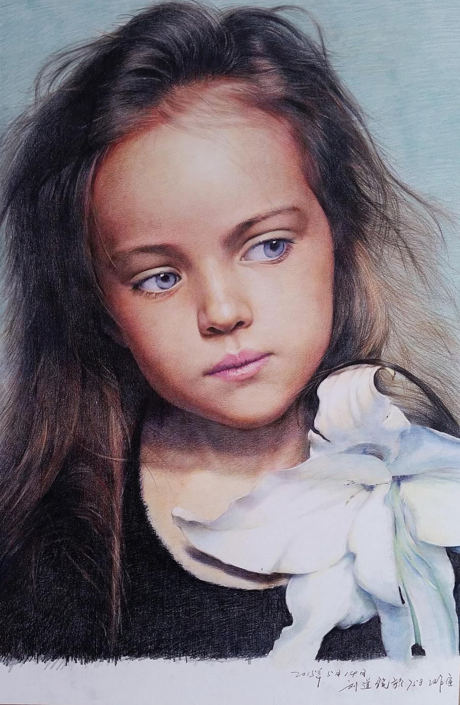 画的第二幅彩铅人物
