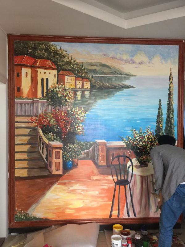 室内地中海风景(墙绘)