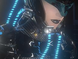 C4D 机甲科幻渲染 动画制作