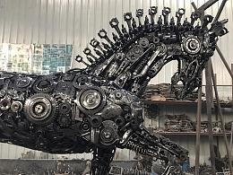 九素(北京)原创机械装置雕塑---机械马