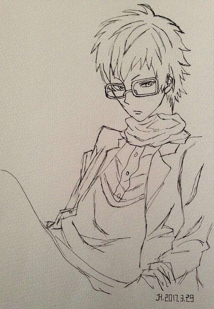 二次元少女 人物 素描 铅笔画 彩绘 手绘 插画 艺术 彩铅 水彩 ,图片