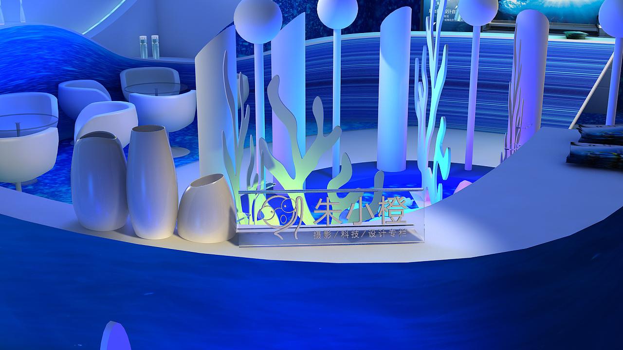 海洋主题的展台设计图片