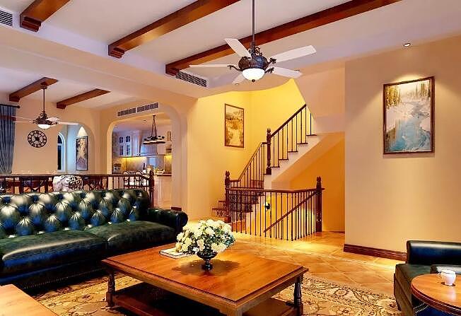 康桥九溪郡四室两厅180平美式乡村风格装修效果图