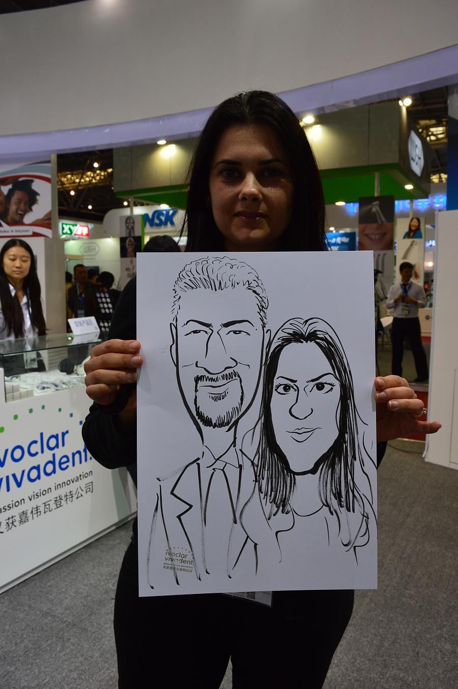 原创作品:现场手绘漫画 肖像漫画速绘卡通表演开业庆典房地产暖场活动