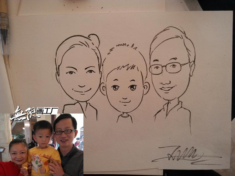 长沙现场手绘漫画 肖像漫画速绘卡通表演开业庆典房