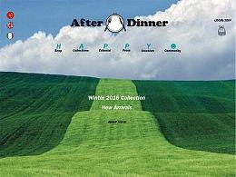 Afterdinner服饰品牌网页版式设计A