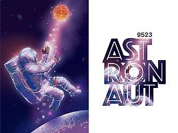 2张图——太空人与星