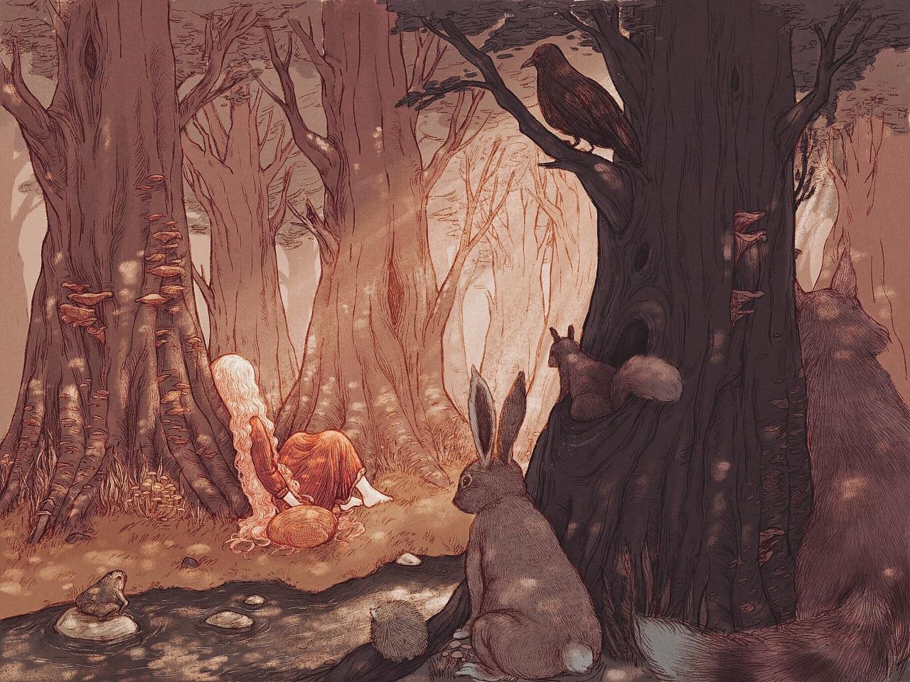 「旧图」沉睡森林图片