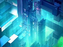 灰猩猩-用C4D创建一个芯片城市