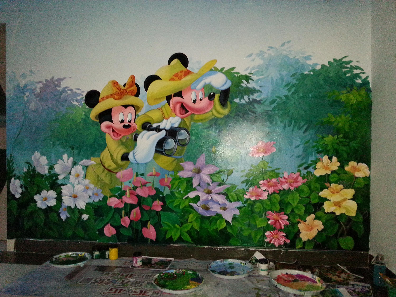 云南幼儿园墙体彩绘装饰装修翻新改造