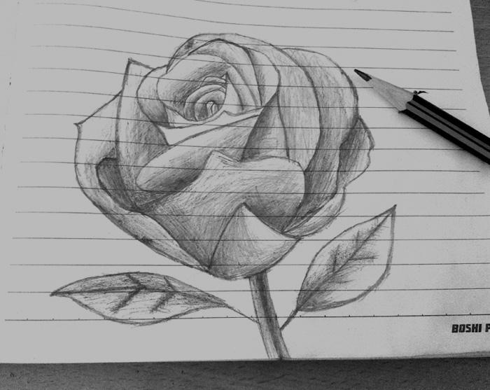 手绘简单唯美铅笔画 ps简单手绘人物铅笔画 手绘铅笔画图片