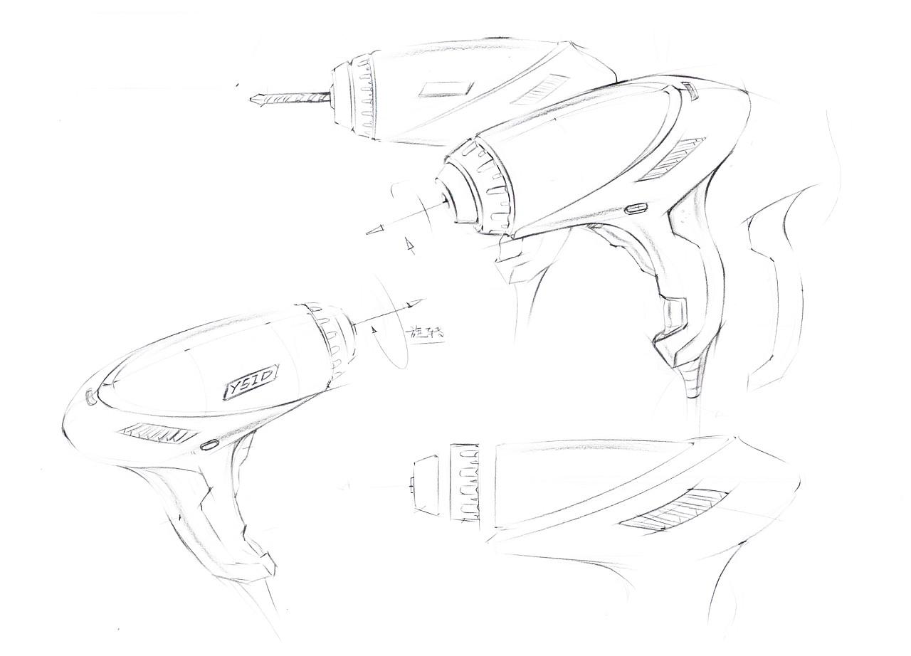 手绘设计电钻步骤图|工业/产品|生活用品|智绘阁