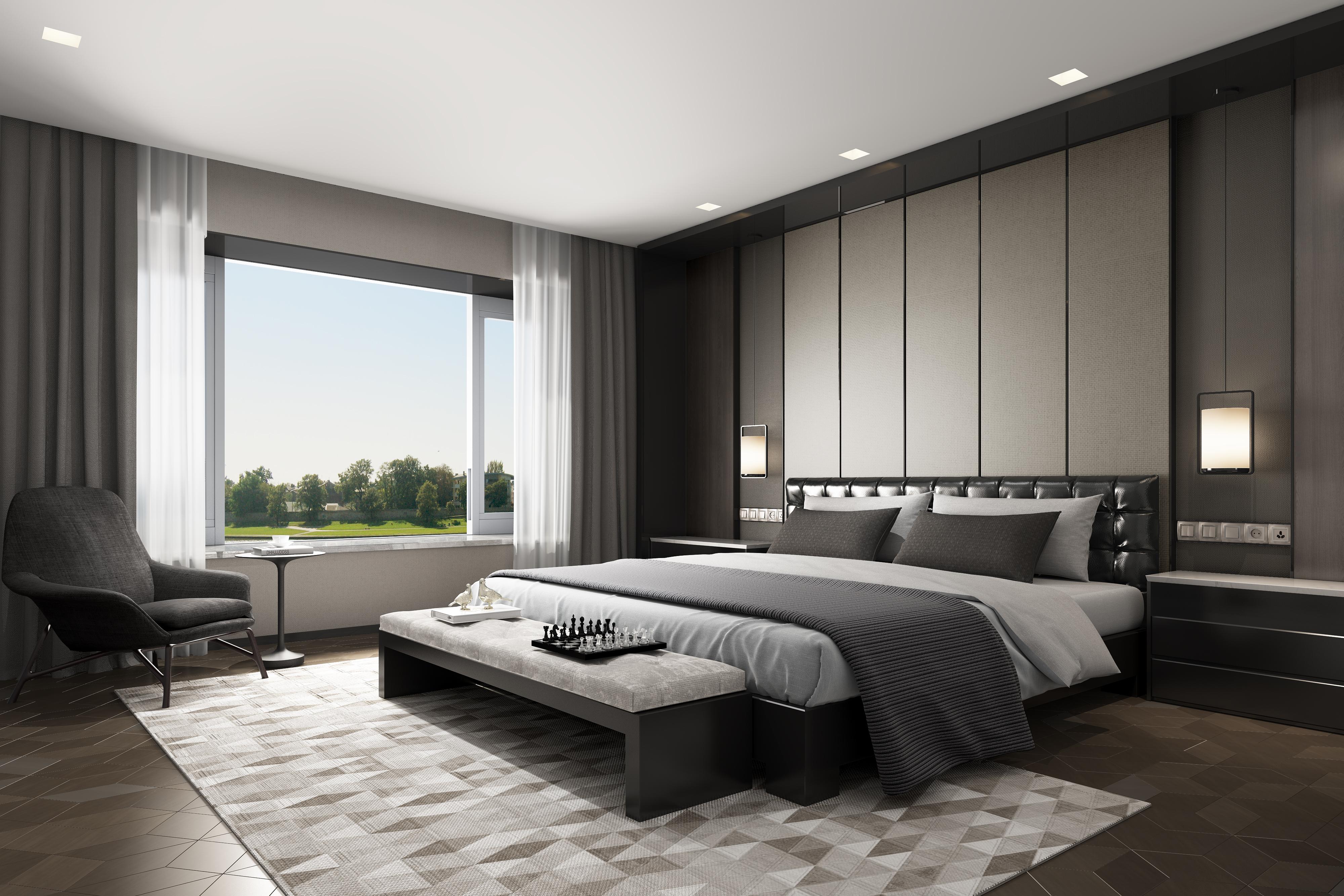 现代卧室|空间|室内设计|五月一梦 - 原创作品 - 站酷