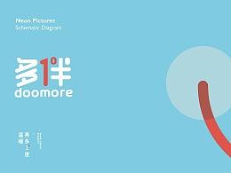 doomore品牌设计,字体LOGO整体创作思路