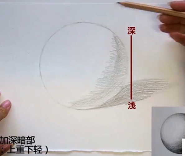 素描球体画法图解图片
