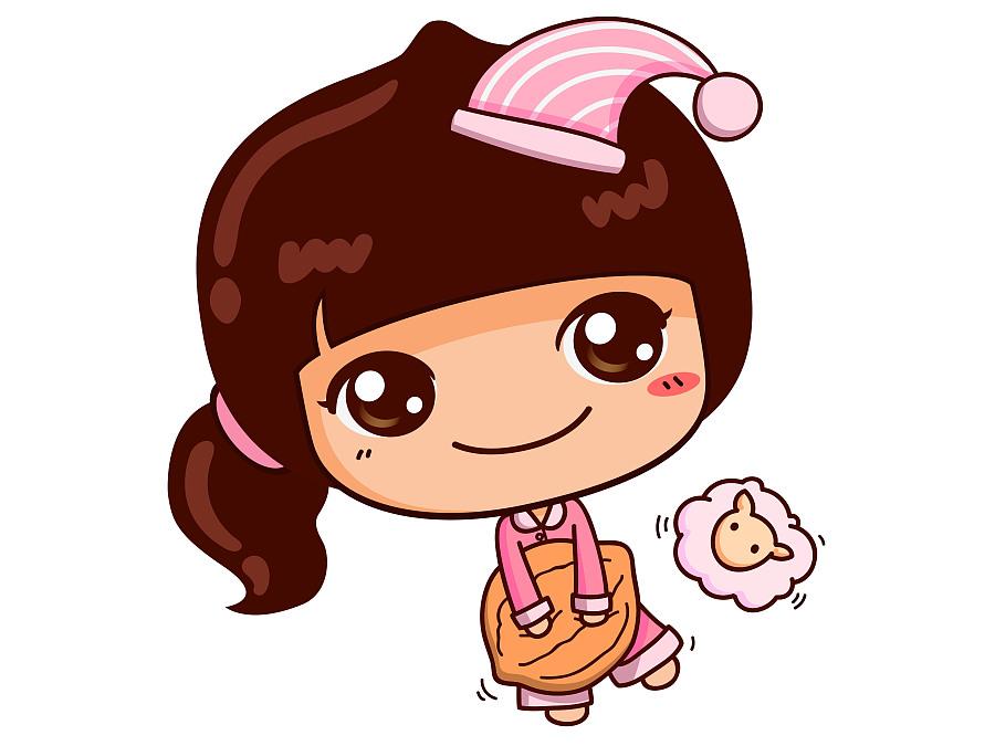 桃小妹坚果零食卡通形象图片
