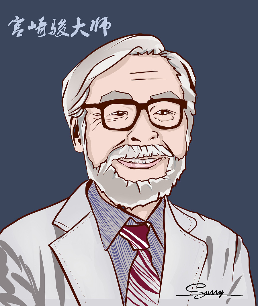 手绘卡通头像---致宫崎骏大师|绘画习作|插画|陆飞鱼