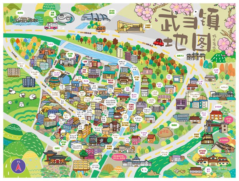 手绘地图之武当镇