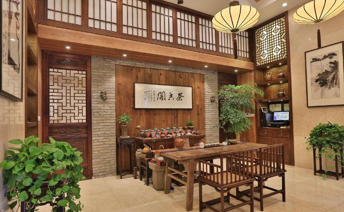茶楼阁茶楼-德阳标志装修|德阳茶香设计|室内设中国旅游文物是根据茶楼什么设计的图片