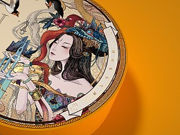 包装插画 X 致爱,东方女神