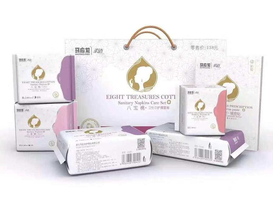 马应龙柔语卫生巾平面设计|包装|礼盒|weishen和海报设计标志ps图片