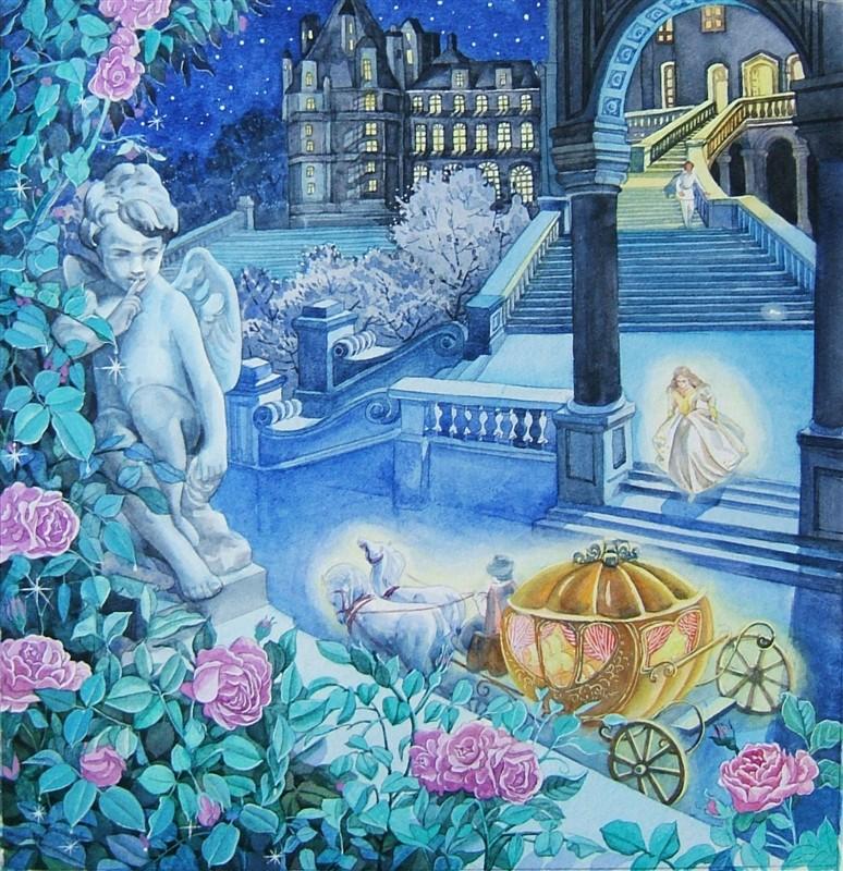 水彩手绘童话故事——灰姑娘|儿童插画|插画|1979水印