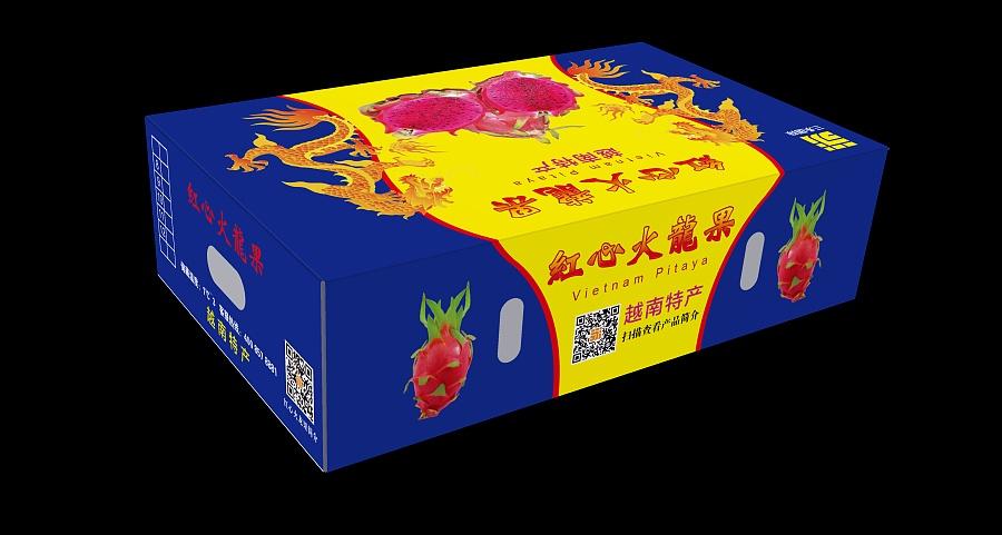 红心火龙果-单层箱|包装|平面|古木蓝桥图片