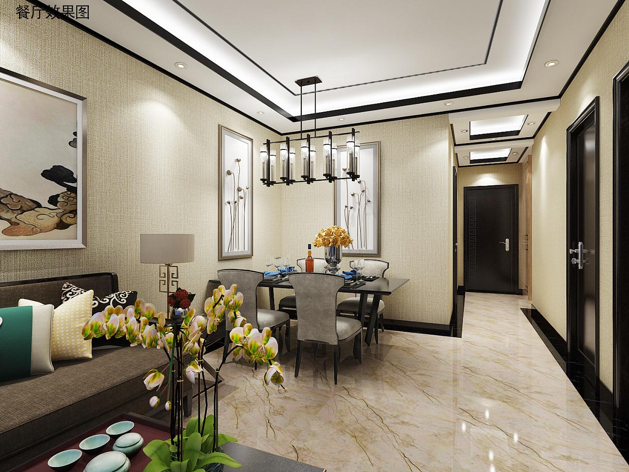 新中式家装|空间|室内设计|氿木设计工作室 - 原创