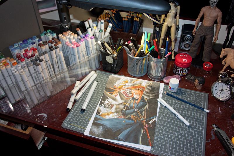 马克笔手绘作品-《黑历史与新纪元》|单幅漫画|动漫