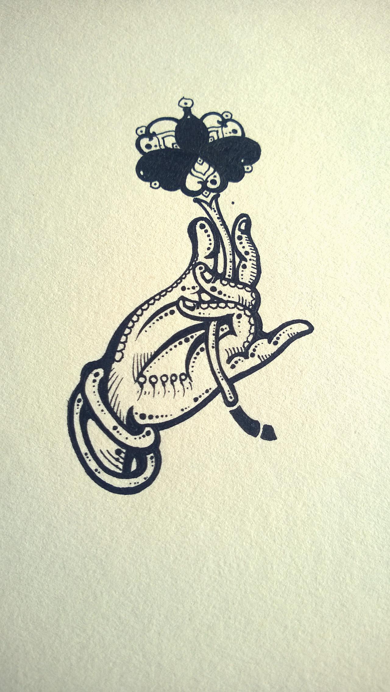 手绘硬笔画简单图案设计
